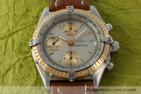 Used luxury watch Breitling Chronomat chronograph steel / gold automatic Kal. VAL 7750 Ref. 81950  | 142361 14