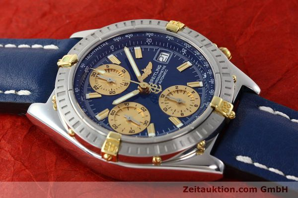 Used luxury watch Breitling Chronomat chronograph steel / gold automatic Kal. B13 ETA 7750 Ref. B13352  | 142363 15