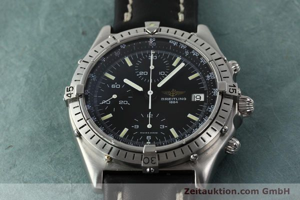 Used luxury watch Breitling Chronomat chronograph steel automatic Kal. VAL 7750 Ref. 81950  | 142365 14