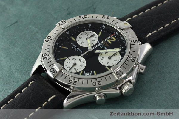 Used luxury watch Breitling Colt chronograph steel quartz Kal. B53 ETA 251262 Ref. A53035  | 142368 01