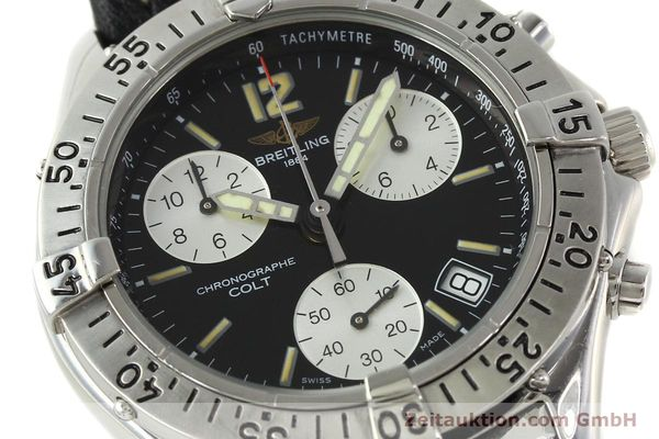 Used luxury watch Breitling Colt chronograph steel quartz Kal. B53 ETA 251262 Ref. A53035  | 142368 02