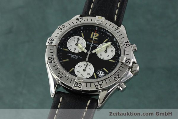 Used luxury watch Breitling Colt chronograph steel quartz Kal. B53 ETA 251262 Ref. A53035  | 142368 04