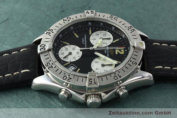 Used luxury watch Breitling Colt chronograph steel quartz Kal. B53 ETA 251262 Ref. A53035  | 142368 05