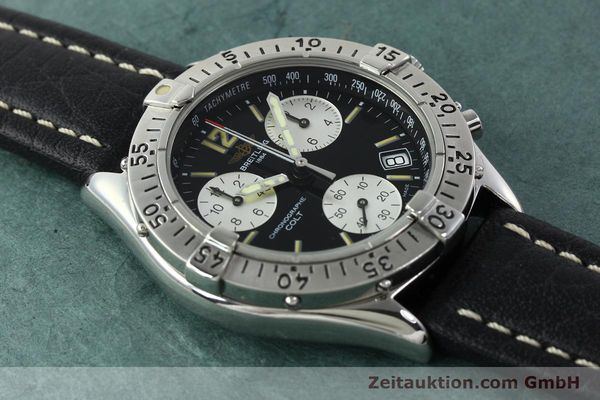 Used luxury watch Breitling Colt chronograph steel quartz Kal. B53 ETA 251262 Ref. A53035  | 142368 12