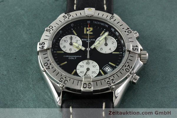 Used luxury watch Breitling Colt chronograph steel quartz Kal. B53 ETA 251262 Ref. A53035  | 142368 13