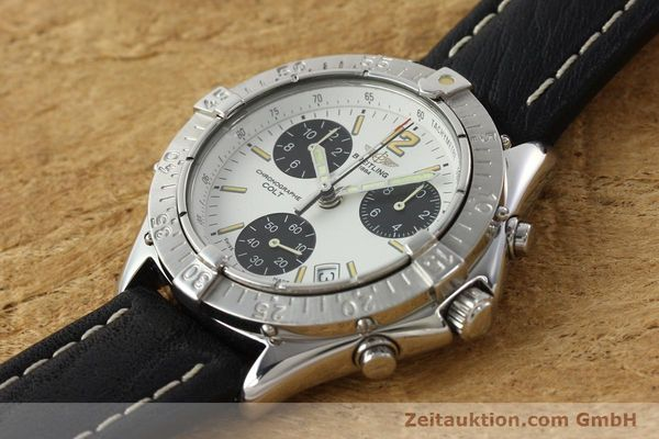 Used luxury watch Breitling Colt chronograph steel quartz Kal. B53 ETA 251262 Ref. A53035  | 142369 01