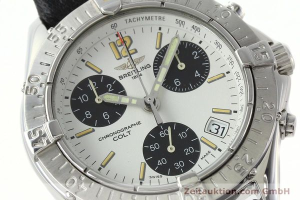 Used luxury watch Breitling Colt chronograph steel quartz Kal. B53 ETA 251262 Ref. A53035  | 142369 02