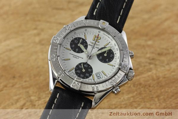 Used luxury watch Breitling Colt chronograph steel quartz Kal. B53 ETA 251262 Ref. A53035  | 142369 04