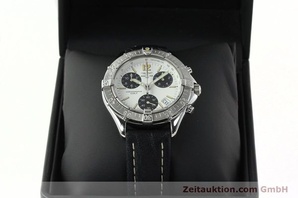 Used luxury watch Breitling Colt chronograph steel quartz Kal. B53 ETA 251262 Ref. A53035  | 142369 07