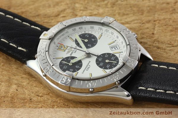 Used luxury watch Breitling Colt chronograph steel quartz Kal. B53 ETA 251262 Ref. A53035  | 142369 12