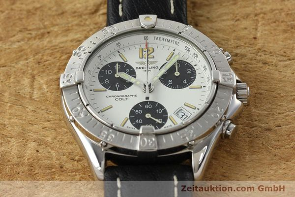 Used luxury watch Breitling Colt chronograph steel quartz Kal. B53 ETA 251262 Ref. A53035  | 142369 13