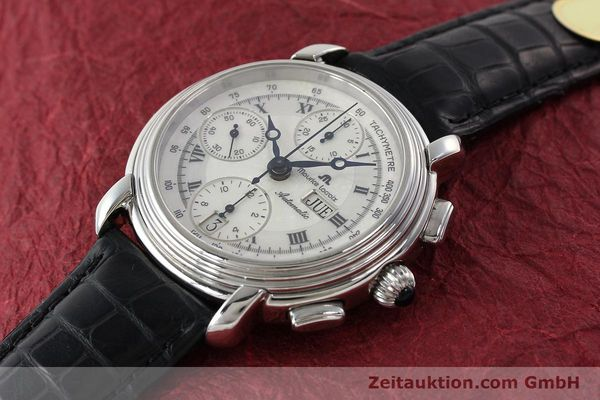 Used luxury watch Maurice Lacroix Croneo chronograph steel automatic Kal. ML 67 Ref. 67413  | 142373 01