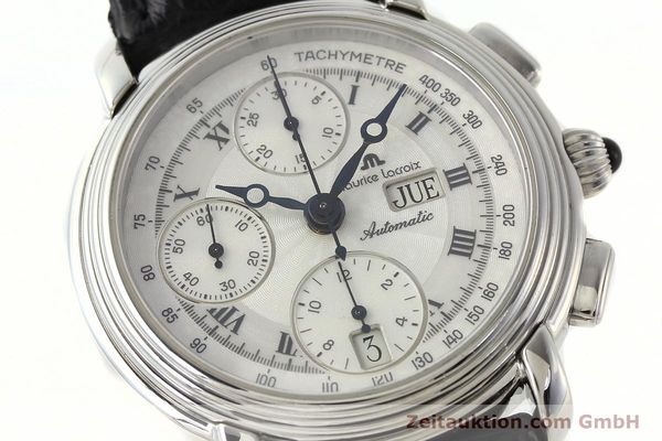 Used luxury watch Maurice Lacroix Croneo chronograph steel automatic Kal. ML 67 Ref. 67413  | 142373 02