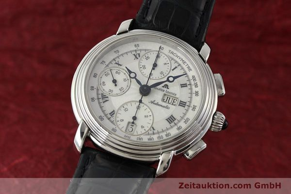 Used luxury watch Maurice Lacroix Croneo chronograph steel automatic Kal. ML 67 Ref. 67413  | 142373 04