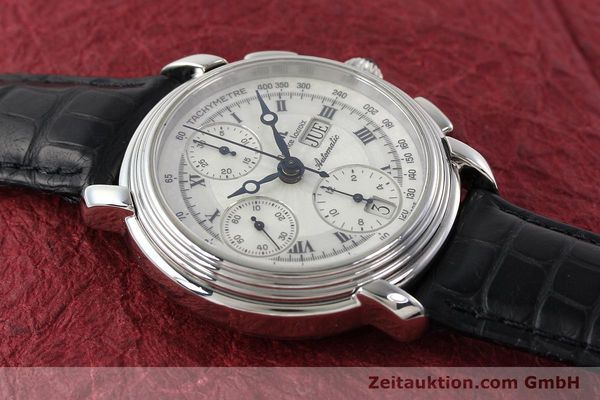 Used luxury watch Maurice Lacroix Croneo chronograph steel automatic Kal. ML 67 Ref. 67413  | 142373 12
