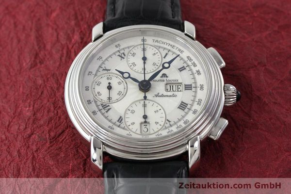 Used luxury watch Maurice Lacroix Croneo chronograph steel automatic Kal. ML 67 Ref. 67413  | 142373 13