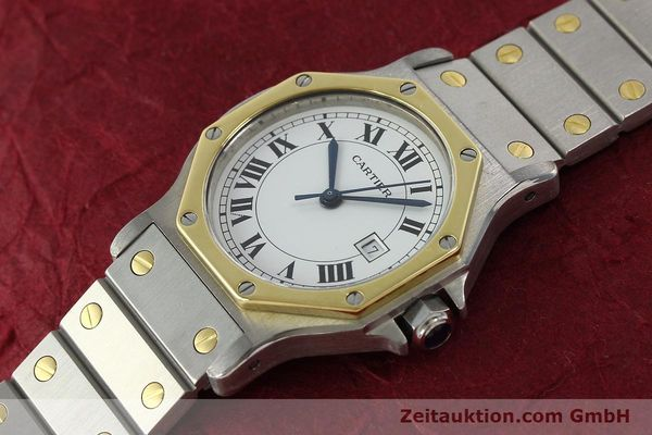 Used luxury watch Cartier Santos steel / gold automatic Kal. 2671  | 142380 01