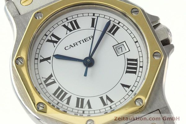 Used luxury watch Cartier Santos steel / gold automatic Kal. 2671  | 142380 02