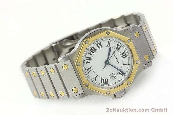 Used luxury watch Cartier Santos steel / gold automatic Kal. 2671  | 142380 03