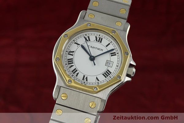 Used luxury watch Cartier Santos steel / gold automatic Kal. 2671  | 142380 04