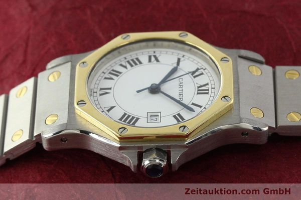 Used luxury watch Cartier Santos steel / gold automatic Kal. 2671  | 142380 05