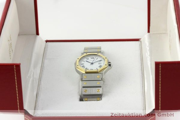 Used luxury watch Cartier Santos steel / gold automatic Kal. 2671  | 142380 07