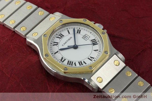Used luxury watch Cartier Santos steel / gold automatic Kal. 2671  | 142380 13