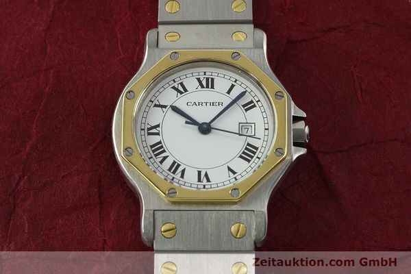 Used luxury watch Cartier Santos steel / gold automatic Kal. 2671  | 142380 14