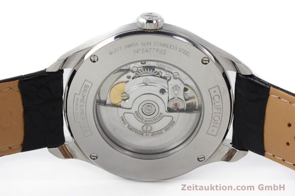 Used luxury watch Baume & Mercier Clifton steel automatic Kal. BM11260 Sellita 280-1 Ref. 65717  | 142387 09