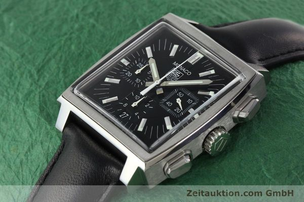 Used luxury watch Tag Heuer Monaco chronograph steel automatic Kal. ETA 2894-2 Ref. CW2111-0  | 142394 01