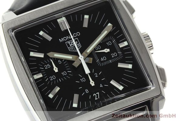 Used luxury watch Tag Heuer Monaco chronograph steel automatic Kal. ETA 2894-2 Ref. CW2111-0  | 142394 02