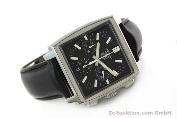 Used luxury watch Tag Heuer Monaco chronograph steel automatic Kal. ETA 2894-2 Ref. CW2111-0  | 142394 03