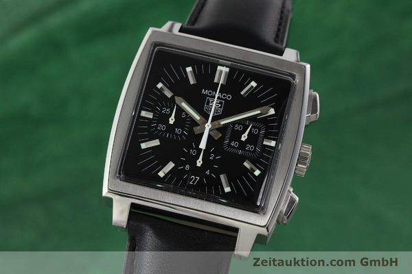 Used luxury watch Tag Heuer Monaco chronograph steel automatic Kal. ETA 2894-2 Ref. CW2111-0  | 142394 04