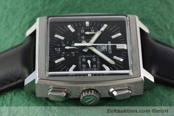 Used luxury watch Tag Heuer Monaco chronograph steel automatic Kal. ETA 2894-2 Ref. CW2111-0  | 142394 05
