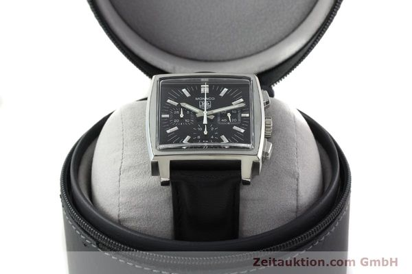 Used luxury watch Tag Heuer Monaco chronograph steel automatic Kal. ETA 2894-2 Ref. CW2111-0  | 142394 07
