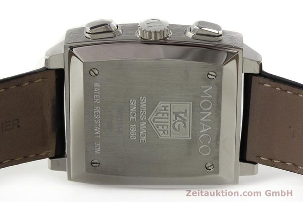 Used luxury watch Tag Heuer Monaco chronograph steel automatic Kal. ETA 2894-2 Ref. CW2111-0  | 142394 09