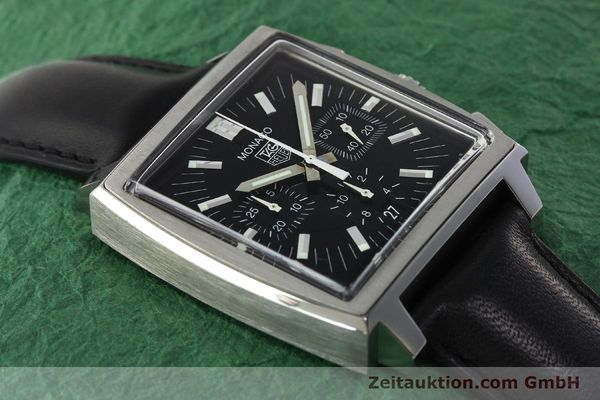 Used luxury watch Tag Heuer Monaco chronograph steel automatic Kal. ETA 2894-2 Ref. CW2111-0  | 142394 15