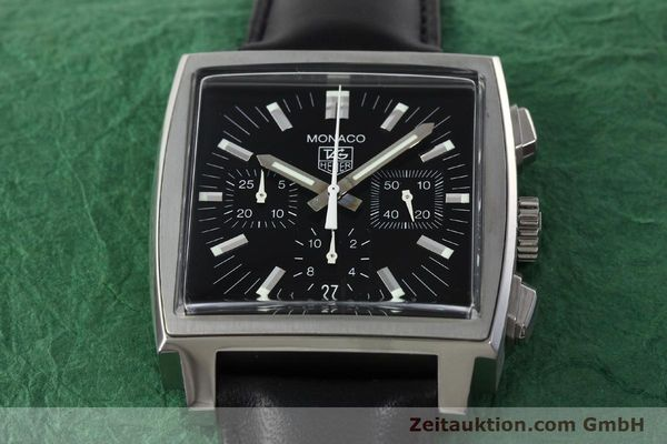 Used luxury watch Tag Heuer Monaco chronograph steel automatic Kal. ETA 2894-2 Ref. CW2111-0  | 142394 16