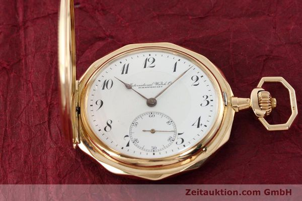 Used luxury watch IWC Taschenuhr 14 ct yellow gold manual winding  | 142395 01