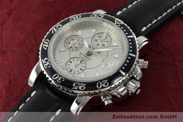 Used luxury watch Montblanc Sport Chronograph chronograph steel automatic Kal. 4810501 ETA 7750 Ref. 7034  | 142398 01