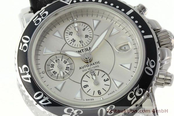 Used luxury watch Montblanc Sport Chronograph chronograph steel automatic Kal. 4810501 ETA 7750 Ref. 7034  | 142398 02