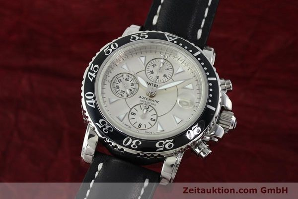 Used luxury watch Montblanc Sport Chronograph chronograph steel automatic Kal. 4810501 ETA 7750 Ref. 7034  | 142398 04