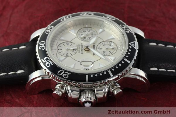 Used luxury watch Montblanc Sport Chronograph chronograph steel automatic Kal. 4810501 ETA 7750 Ref. 7034  | 142398 05