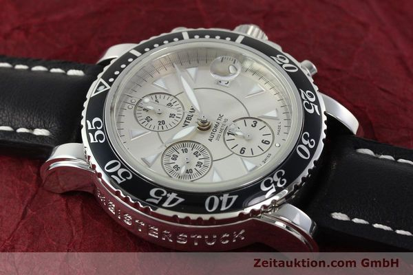 Used luxury watch Montblanc Sport Chronograph chronograph steel automatic Kal. 4810501 ETA 7750 Ref. 7034  | 142398 14