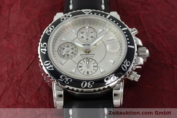 Used luxury watch Montblanc Sport Chronograph chronograph steel automatic Kal. 4810501 ETA 7750 Ref. 7034  | 142398 15