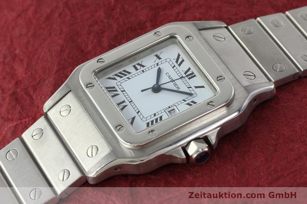 Used luxury watch Cartier Santos steel automatic Kal. ETA 2671  | 142401 01