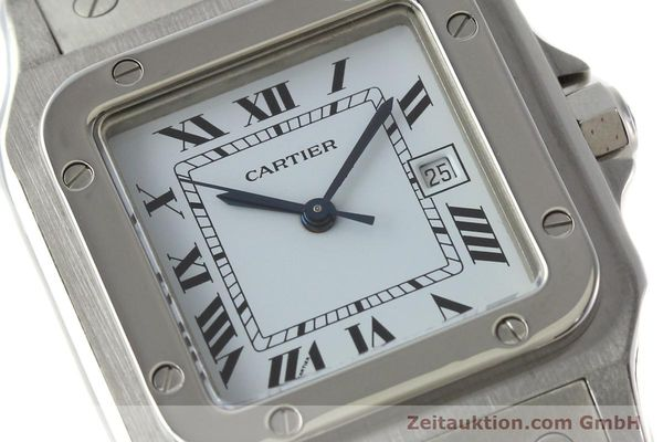 Used luxury watch Cartier Santos steel automatic Kal. ETA 2671  | 142401 02