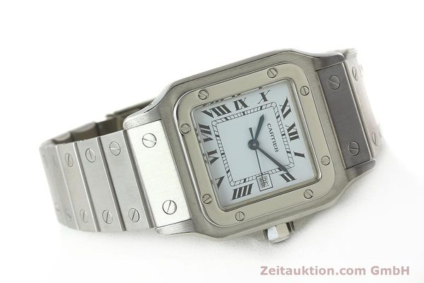 Used luxury watch Cartier Santos steel automatic Kal. ETA 2671  | 142401 03