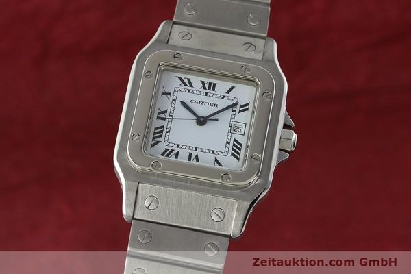 Used luxury watch Cartier Santos steel automatic Kal. ETA 2671  | 142401 04