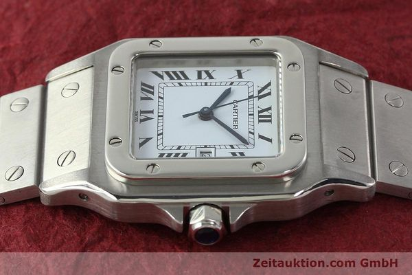 Used luxury watch Cartier Santos steel automatic Kal. ETA 2671  | 142401 05